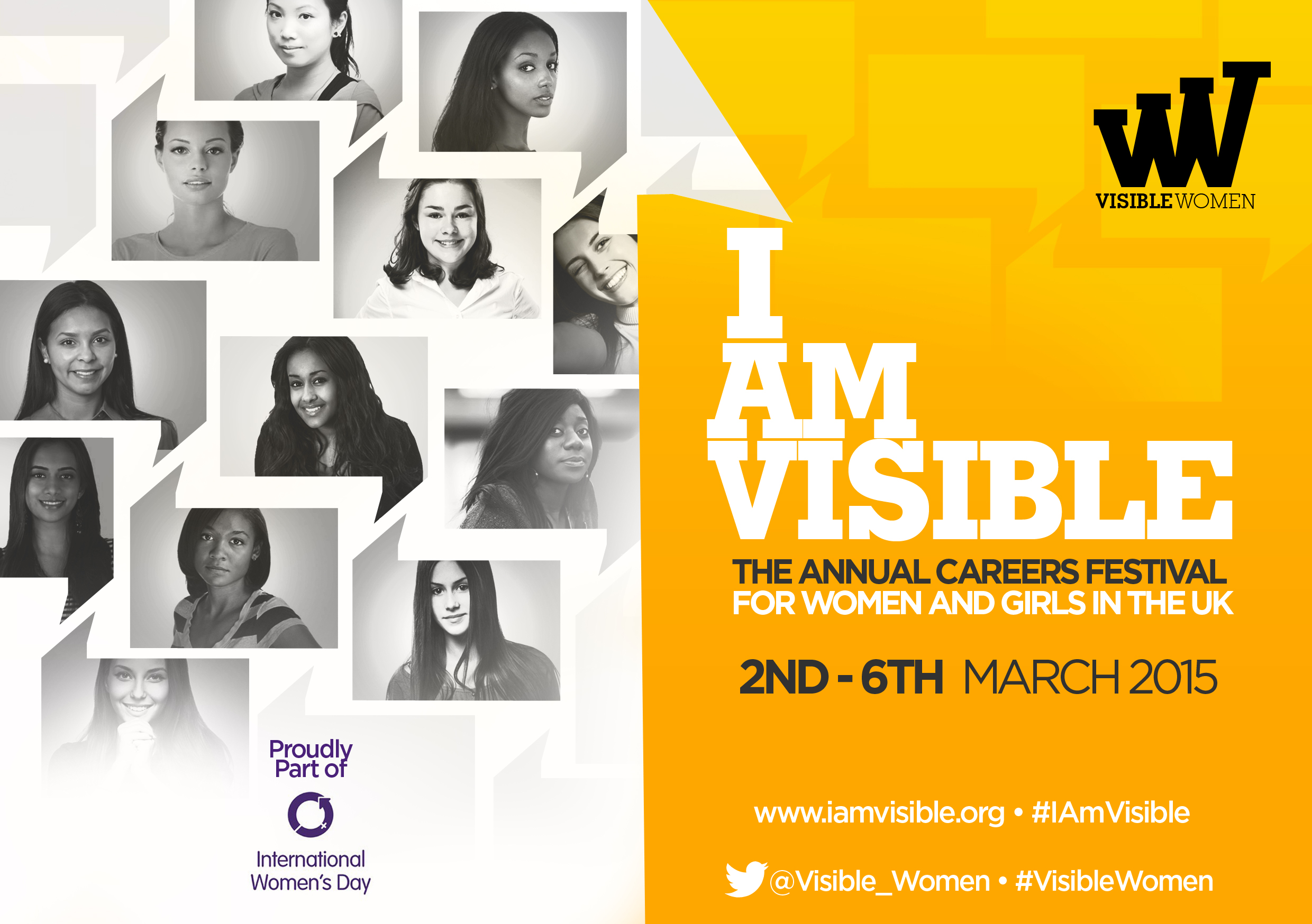 I am visible - The annual careers festival for women and girls in the UK. 2 - 6 March 2015.